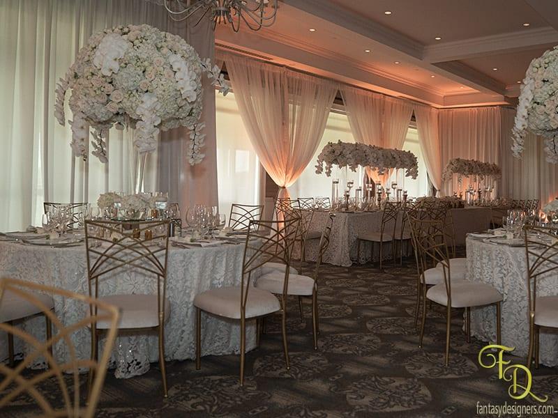 Draping for Walls and Royal Table foir wedding miami