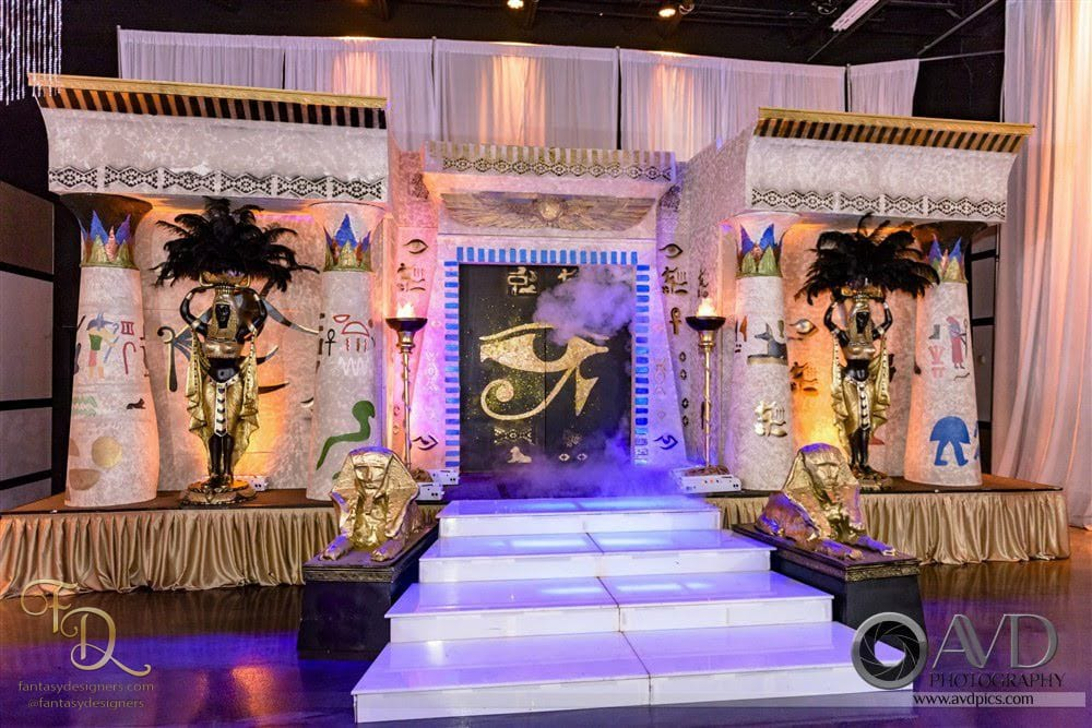 stage decor for egpytian theme