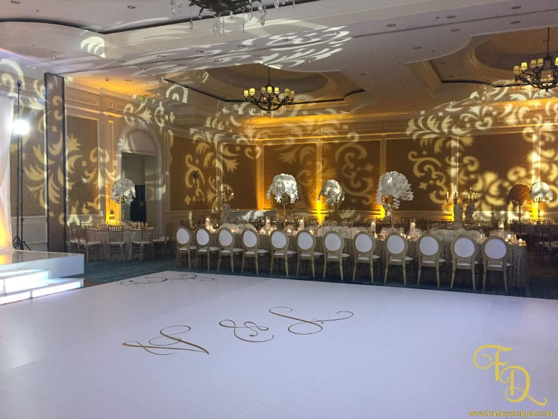 Ritz Carlton Wedding Coconut Grove Lighting Decor