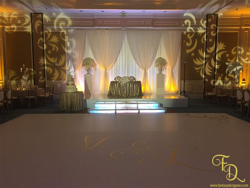Ritz Carlton Wedding Coconut Grove Wrap Dance floor