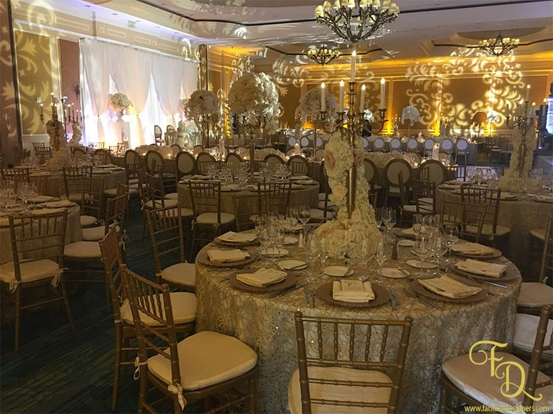 Ritz Carlton Wedding Coconut Grove Lighting Decor Centerpieces