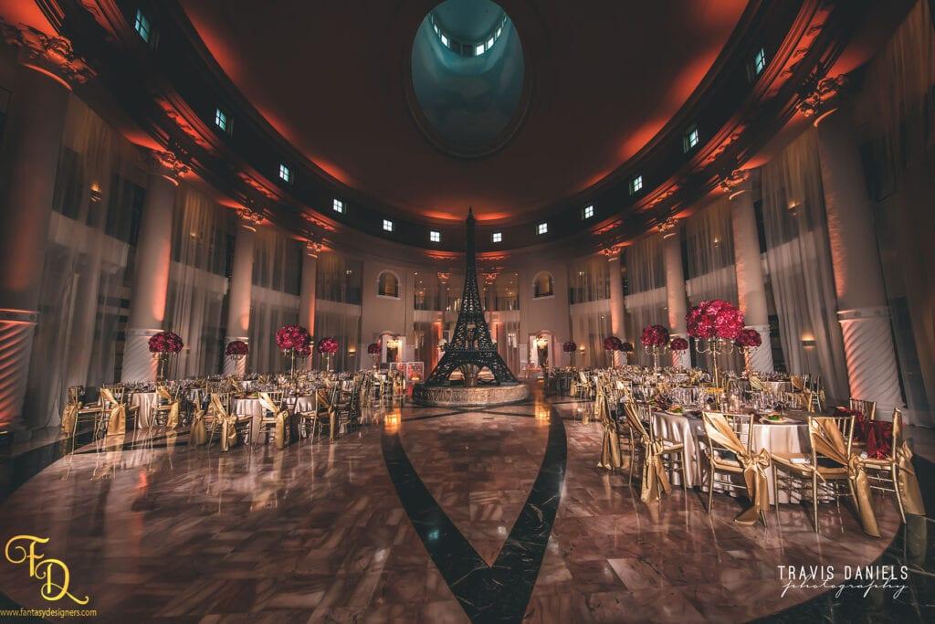 wedding Decorations Miami hotel colonade