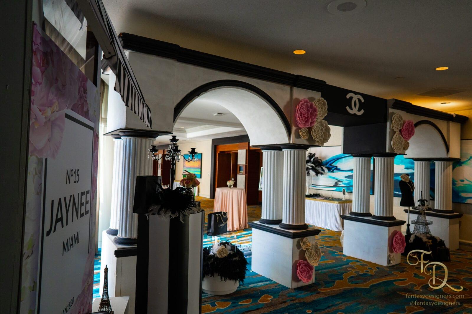 Chanel entrance arch wedding